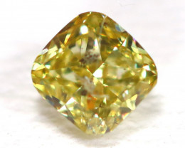 Light Yellow Diamond 0.26Ct Untreated Genuine Fancy Diamond C1202