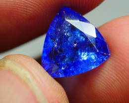 3.410crt WONDERFULL TANZANITE TOP COLOR GEMSTONE -
