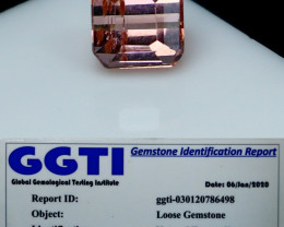 NR!!! 1.45 GGTI-Certified- Pink Tourmaline Gemstone
