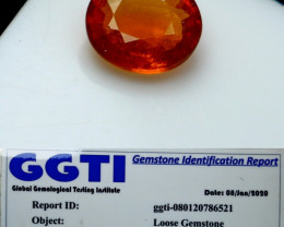 NR!!! 0.90 Cts GGTI-Certified- Orange Garnet Gemstone