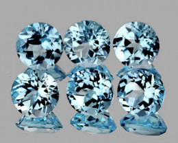5.00 mm Round 6pcs 3.37cts Sky Blue Topaz [VVS]