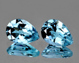 12x8 mm Pear 2 pcs 7.25cts Sky Blue Topaz [VVS]