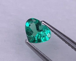 Certified Insignificant Fine Grade Colombian Muzo Green Emerald 0.50 Cts