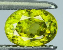~OLIVE GREEN~ Natural Sphene 0.91 Cts Oval Cut Madagascar