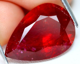 Red Ruby 14.97Ct Peat Cut Pigeon Blood Red Ruby A1308