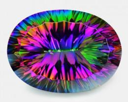 25.23 Cts Rare Fancy Rainbow Colors Natural Mystic Quartz