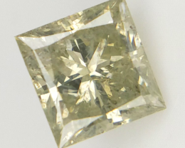 0.54 cts , Princess Brilliant Cut ,Fancy Color Diamond