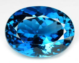 13.86 Carat London Blue Natural Topaz Gemstone