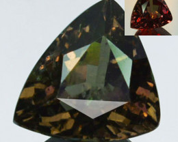 ~UNTREATED~ 2.42 Cts Natural Color Change Garnet Try angle Tanzania