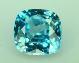 AAA Brilliance 1.45 ct Blue Zircon Cambodia ~K