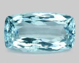 6.38 Cts Un Heated Blue Natural Aquamarine Loose Gemstone
