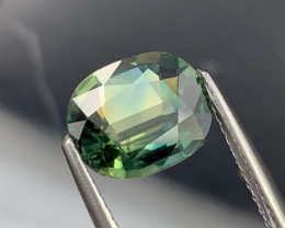 2.14 Cts AAA Grade Bluish Green Natural Sapphire Fine Luster
