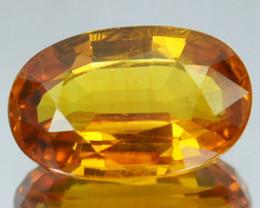 1.35 Cts Natural Corundum Yellow Sapphire Beryllium Heated Madagascar