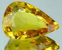 1.23 Cts Natural Corundum Yellow Sapphire Beryllium Heated Madagascar