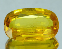 1.23 Cts Natural Corundum Yellow Sapphire Beryllium Heated Madagascar