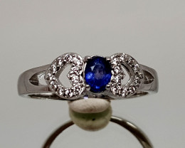 16CT SAPPHIRE 925 SILVER RING 9  BEST QUALITY GEMSTONE IIGC31