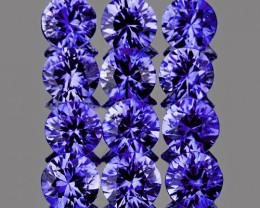 2.60 mm Round 12 pcs 1.03ct Violet Blue Sapphire [VVS]
