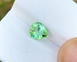 1.15 Ct Natural Green Transparent Top Quality Ring Size Tourmaline Gem