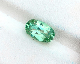 2.80 Ct Natural Green Transparent Ring Size Kunzite Gemstone
