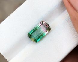 CERTIFIED 3.57 Ct Natural BI Color Transparent Tourmaline Ring Size Gem