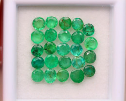 3.43Ct Natural Zambia Green Emerald Round Cut Lot A998