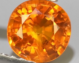 0.85 CTS~AWESOME NICE ORANGEISH-YELLOW SAPPHIRE FACET GENUINE~