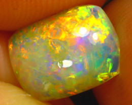 Welo Opal 1.13Ct Natural Ethiopian Play of Color Opal DF1520/A28