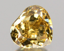 0.19Cts Natural Untreated Diamond Fancy Yellow Heart Mix Pear Cut Africa