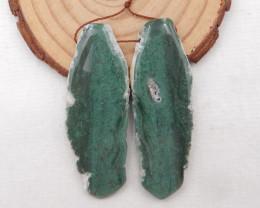78.5cts Nugget Moss Agate Earrings gemstone earrings beads, stone for earri