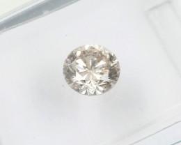 0.57ct Natural pinkish Brown  Diamond IGI certified  SI1