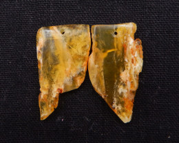 30cts Nugget Agate Earrings gemstone earrings beads, stone for earrings H71