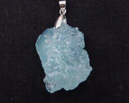 103cts Raw Natural Aquamarine Pendant,Healing Stone H722