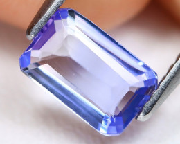 Tanzanite 1.15Ct VS Octogon Cut Natural Purplish Blue Color Tanzanite C1402