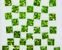 20.00Ct Natural Green Peridot 8mm Square Princess 5mm Parcel