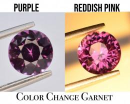 GGI CERT~ Electric 1.86 ct  Natural Dramatic Full Color Change Garnet ~Rare
