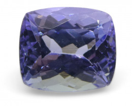 1.90ct Cushion Tanzanite-$1 No Reserve Auction