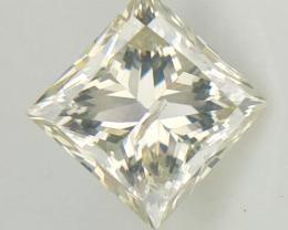 0.47 cts, Near Color Less Diamonds ,Princess Brilliant cut