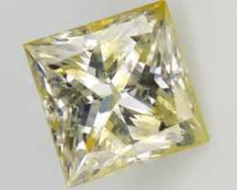 0.41 CTS , Rare Sierra Leone Diamond , Double Color Diamond
