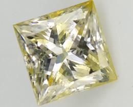0.41 CTS , Rare Sierra Leone Diamond , Double Color Diamond