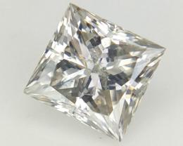 0.33 cts , Princess Natural Diamond , Grey Natural Diamond