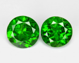 1.58 Cts 2 Pcs Natural Green Color Chrome Diopside Loose Gemstone