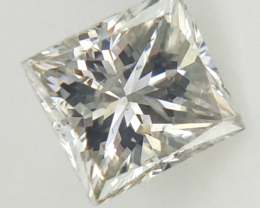 0.23 CTS , Natural Princess Diamond , Light Color Diamond
