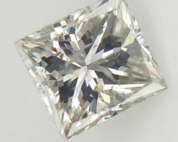 0.23 CTS , Natural Princess Diamond , Light Color Diamond
