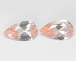 2.11 Cts 2 Pcs Amazing Rare Natural Pink Color Morganite Gemstone