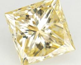 0.46 cts , Natural VS Diamond , Light Yellow Color