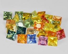 9.29 Cts 28 Pcs Amazing Rare Natural Fancy Mix Sapphire Loose Gemstones