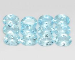 11.49 Cts 12 Pcs Un Heated 8X6 MM Sky Blue  Natural Aquamarine Loose Gemsto