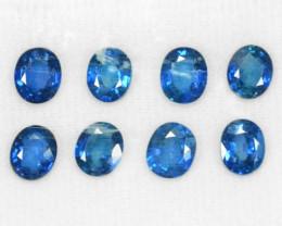 6.37 Cts 8 Pcs Amazing Rare Natural Fancy Blue Sapphire Loose Gemstone