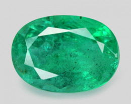 1.39 Cts Natural Vivid Green Colombian Emerald Loose Gemstone
