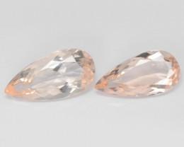 5.08 Cts 2 Pcs Amazing Rare Natural Pink Color Morganite Gemstone
